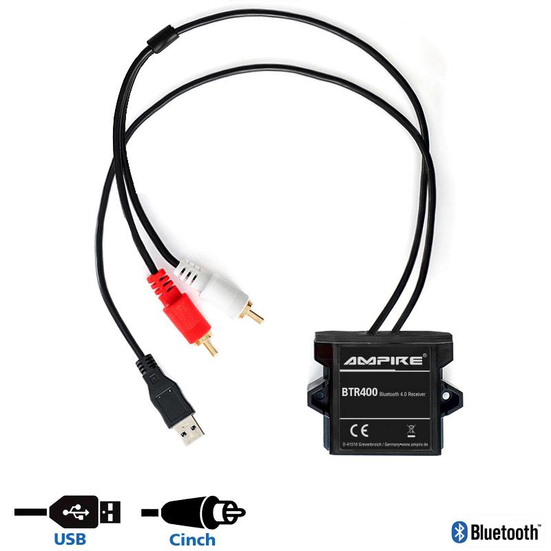 Ampire adaptador Bluetooth para Cinch bt4.0 12v interface para streaming bleutooth