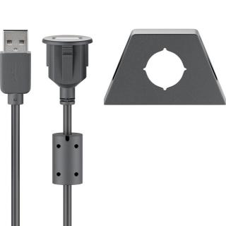 AMPIRE USB built-in socket with 200cm cable