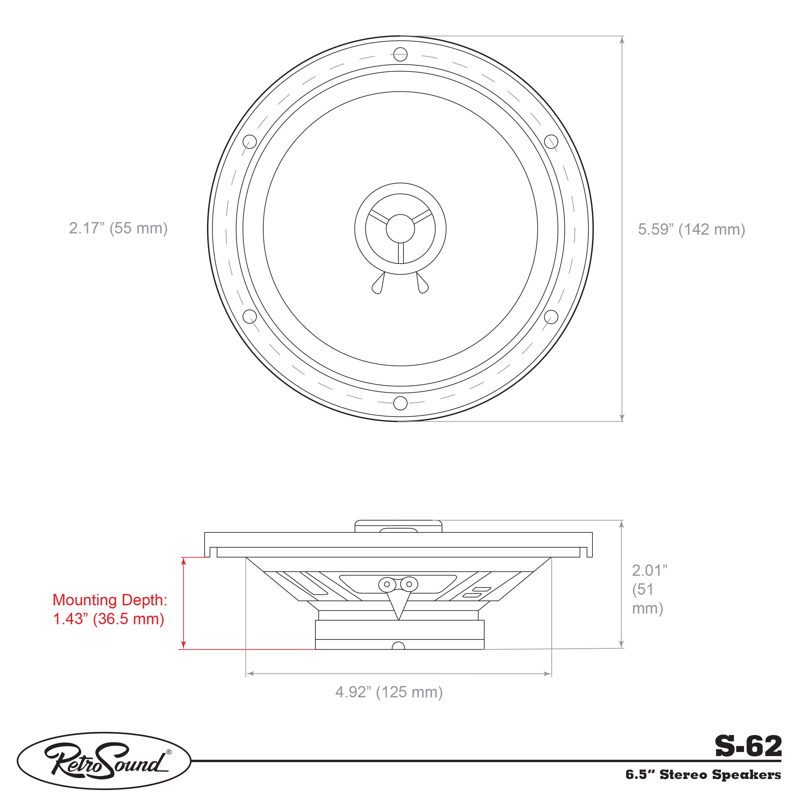 RETROSOUND Speaker 16cm/6.5\'\' (pair) | Mercedes-Benz W126 | Mercedes ...